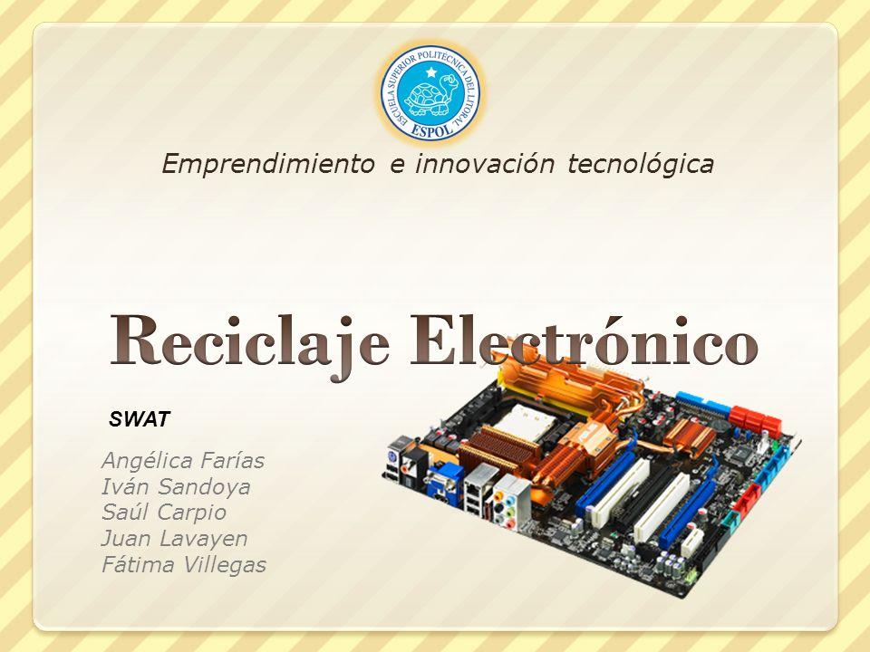 Emprendimiento e innovación tecnológica Angélica Farías Iván Sandoya Saúl Carpio Juan Lavayen Fátima Villegas SWAT