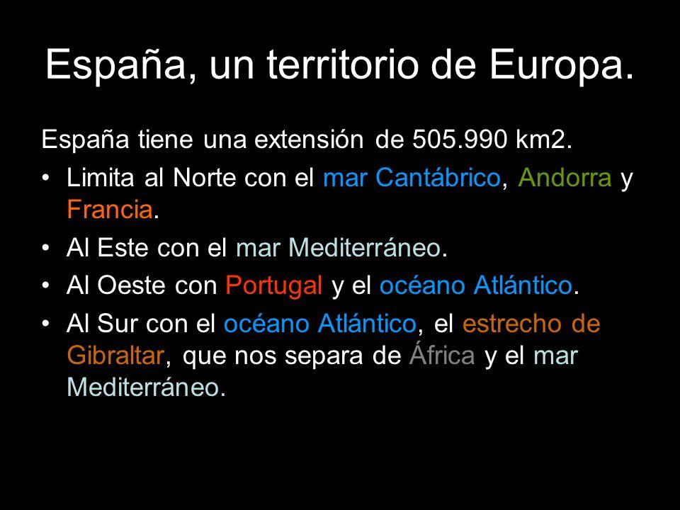 España tiene una extensión de 505.990 km2.