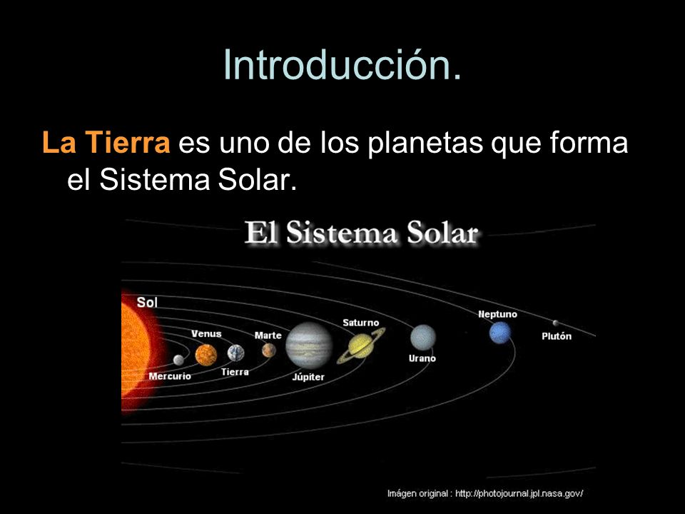 La Tierra es uno de los planetas que forma el Sistema Solar.