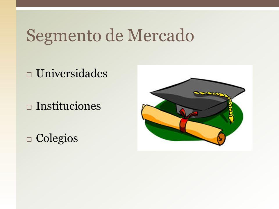 Segmento de Mercado Universidades Instituciones Colegios