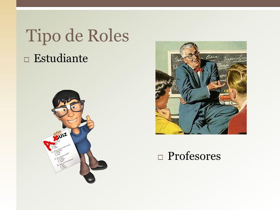 Estudiante Profesores Tipo de Roles
