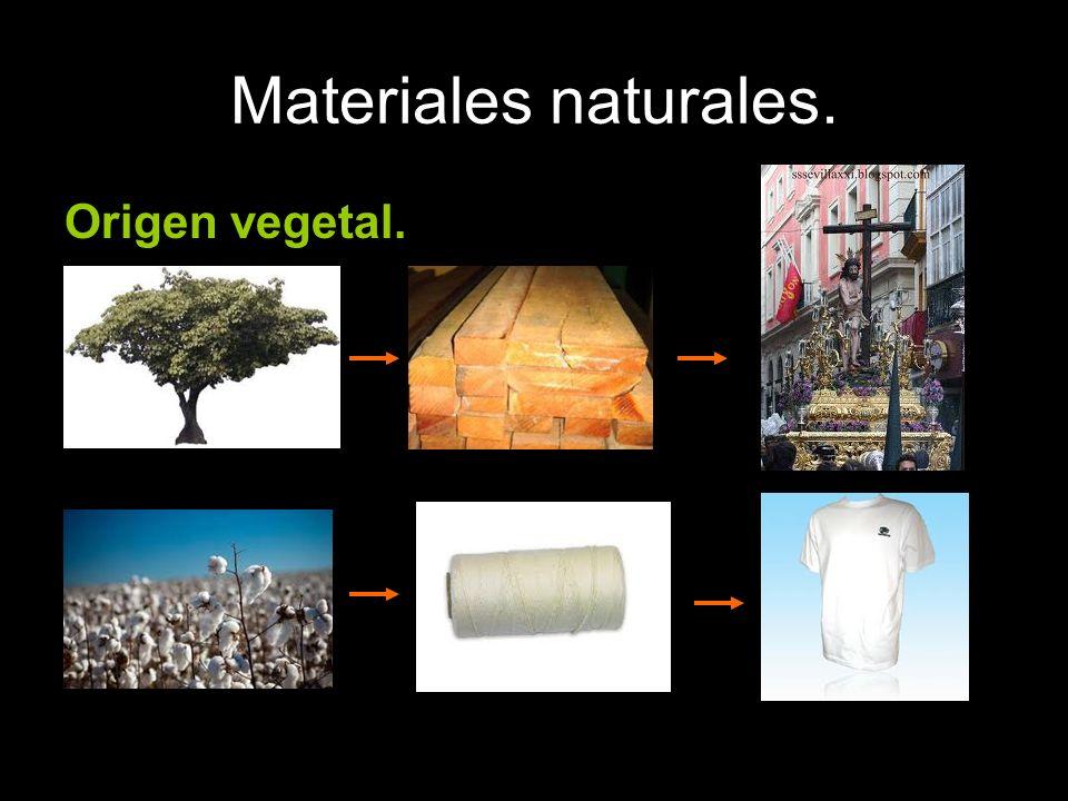 Materiales naturales. Origen vegetal.