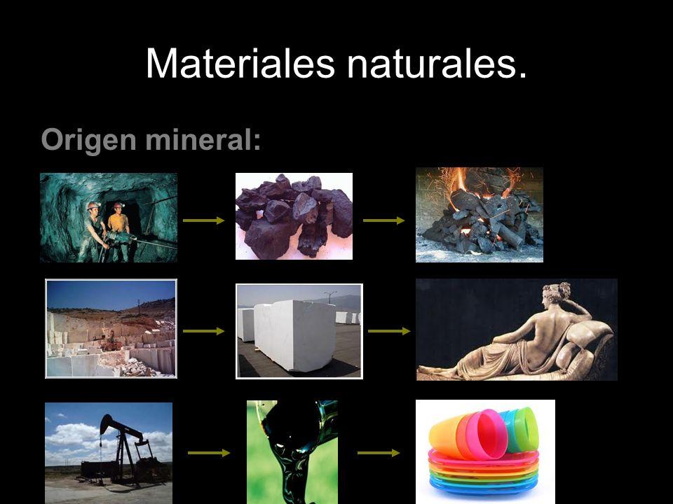 Materiales naturales. Origen mineral: