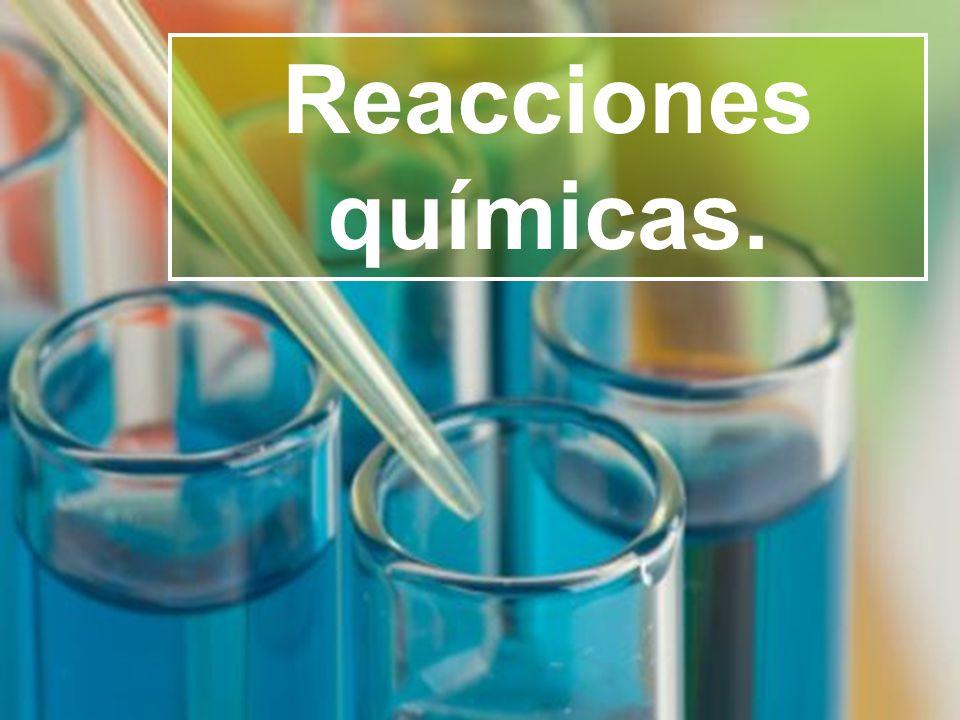 Reacciones químicas.