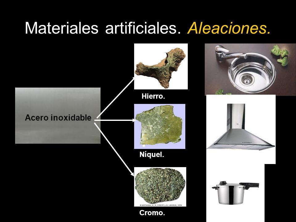 Materiales artificiales. Aleaciones. Bronce Cobre. Estaño.