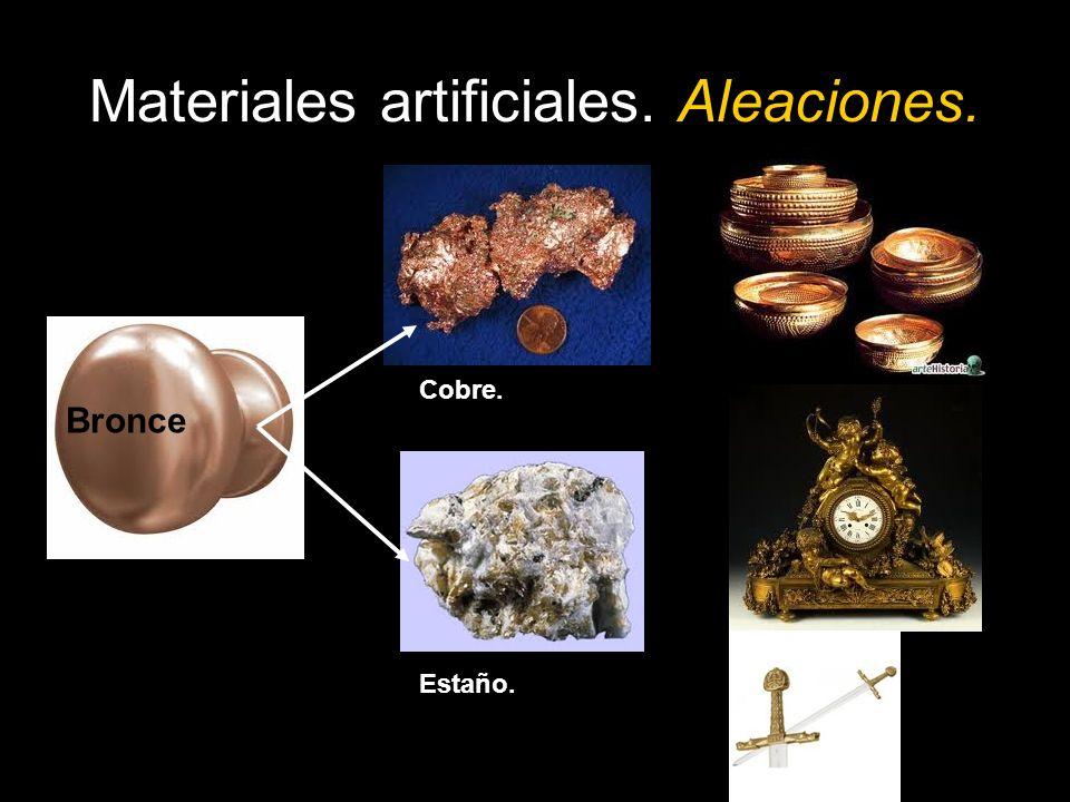 Materiales artificiales.Plásticos. Los plásticos se obtienen principalmente del petróleo.