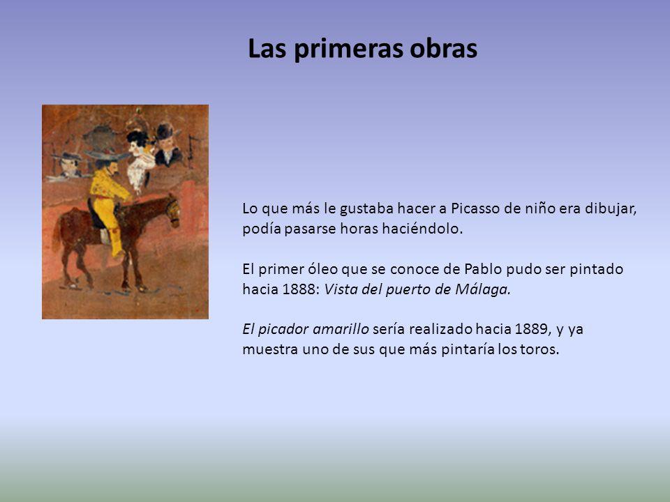Lo que más le gustaba hacer a Picasso de niño era dibujar, podía pasarse horas haciéndolo. El primer óleo que se conoce de Pablo pudo ser pintado haci