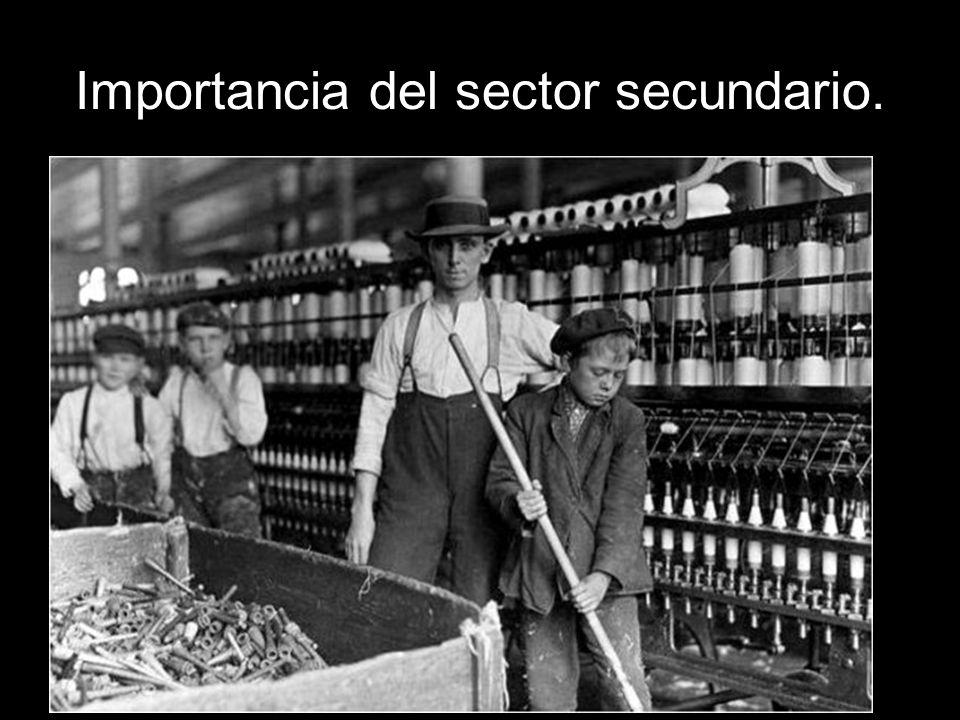 Importancia del sector secundario.La energía.
