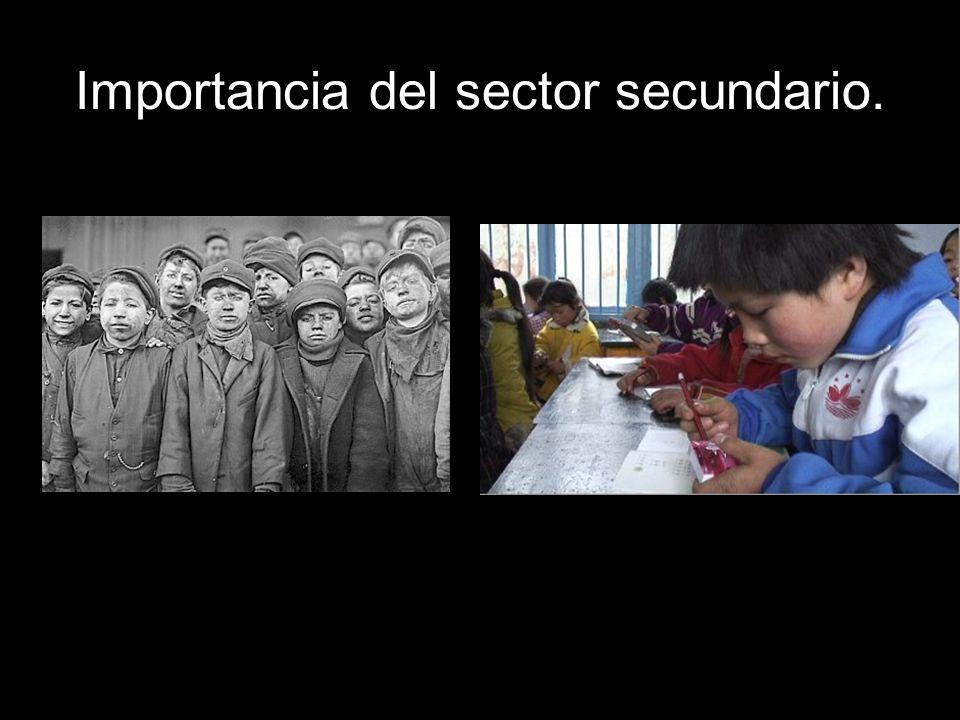 Importancia del sector secundario. Sectores industriales.