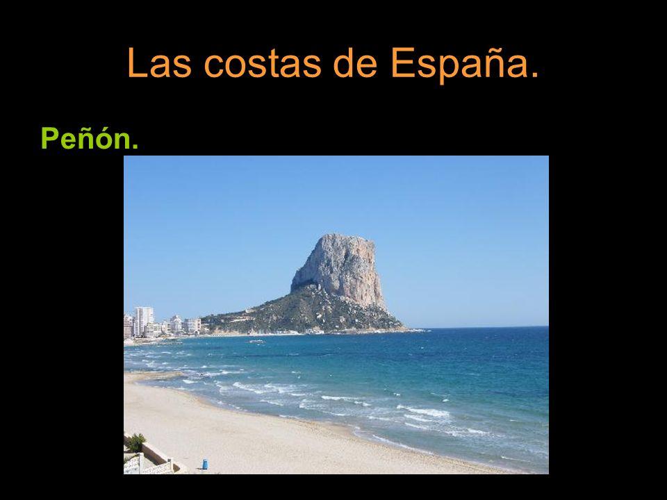 Las costas de España. Peñón.