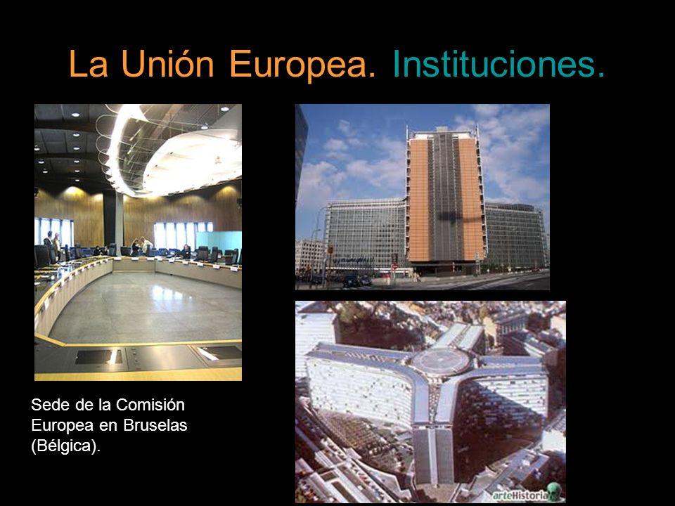 La Unión Europea. Instituciones. Sede de la Comisión Europea en Bruselas (Bélgica).