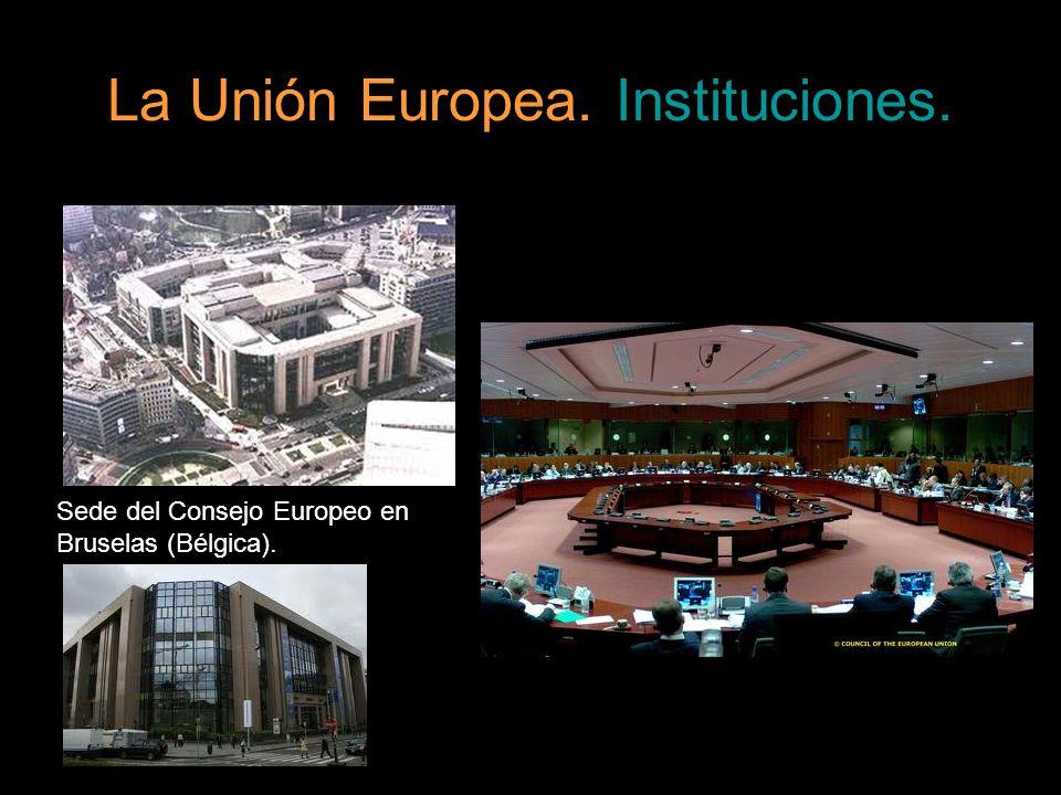 La Unión Europea. Instituciones. Sede del Consejo Europeo en Bruselas (Bélgica).