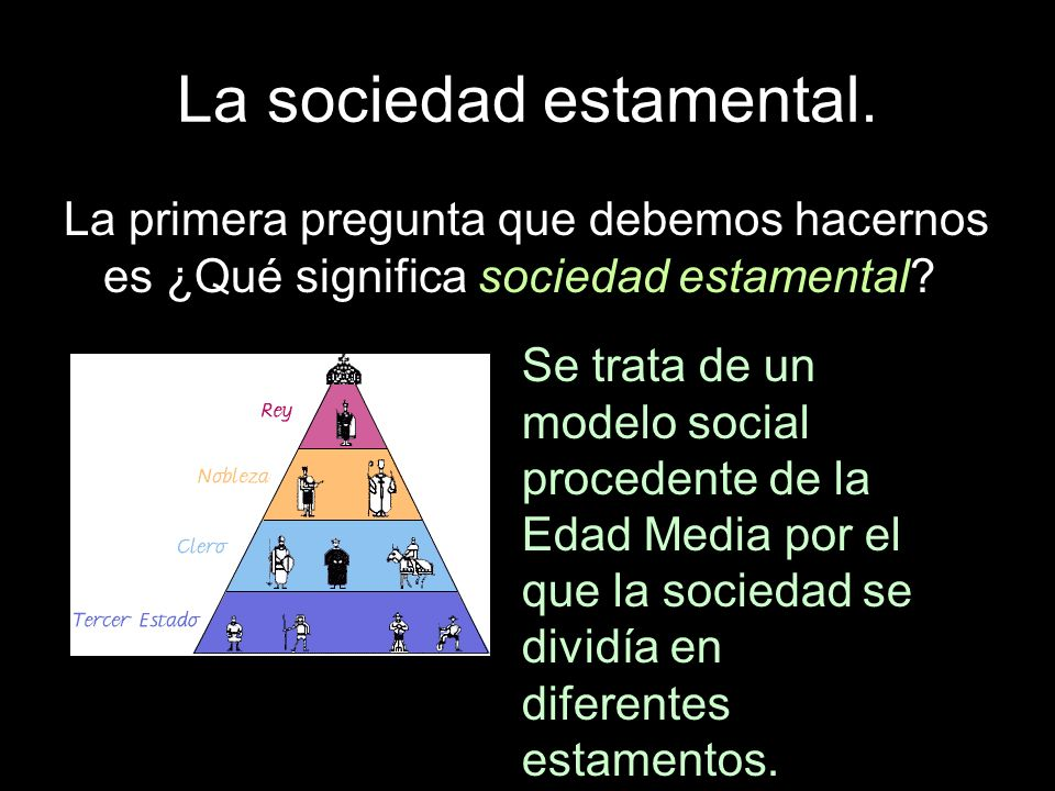La sociedad estamental.Los privilegiados.