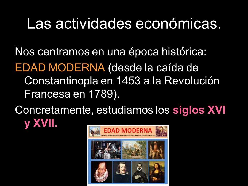 Nos centramos en una época histórica: EDAD MODERNA (desde la caída de Constantinopla en 1453 a la Revolución Francesa en 1789).