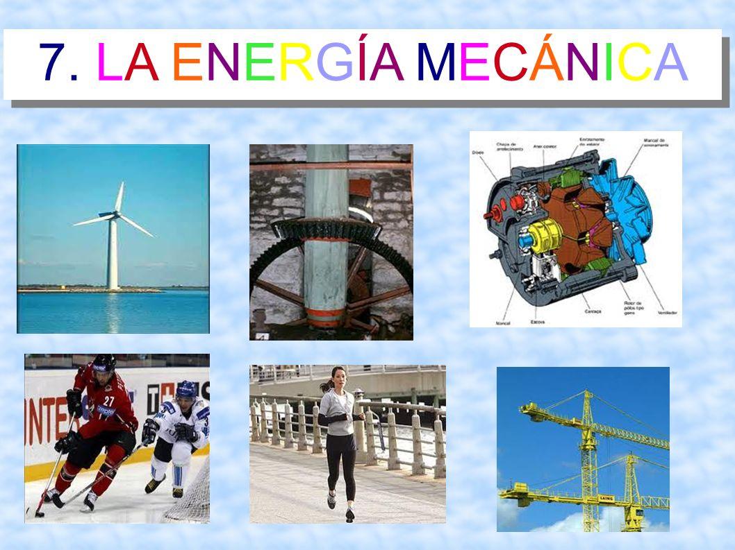 7.LA ENERGÍA MECÁNICA Es la energía que se produce a través de un movimiento.