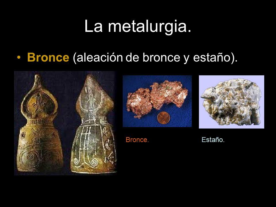 La metalurgia. Bronce (aleación de bronce y estaño). Bronce.Estaño.