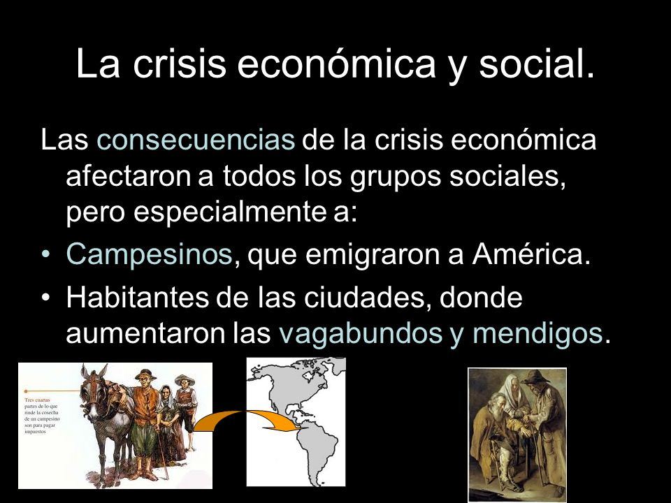 La crisis económica y social.