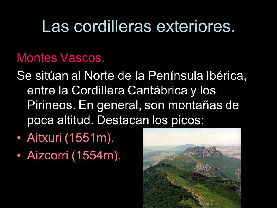 Las cordilleras exteriores. Montes Vascos. Aitxuri (1551m).Aizkorri (1544m).