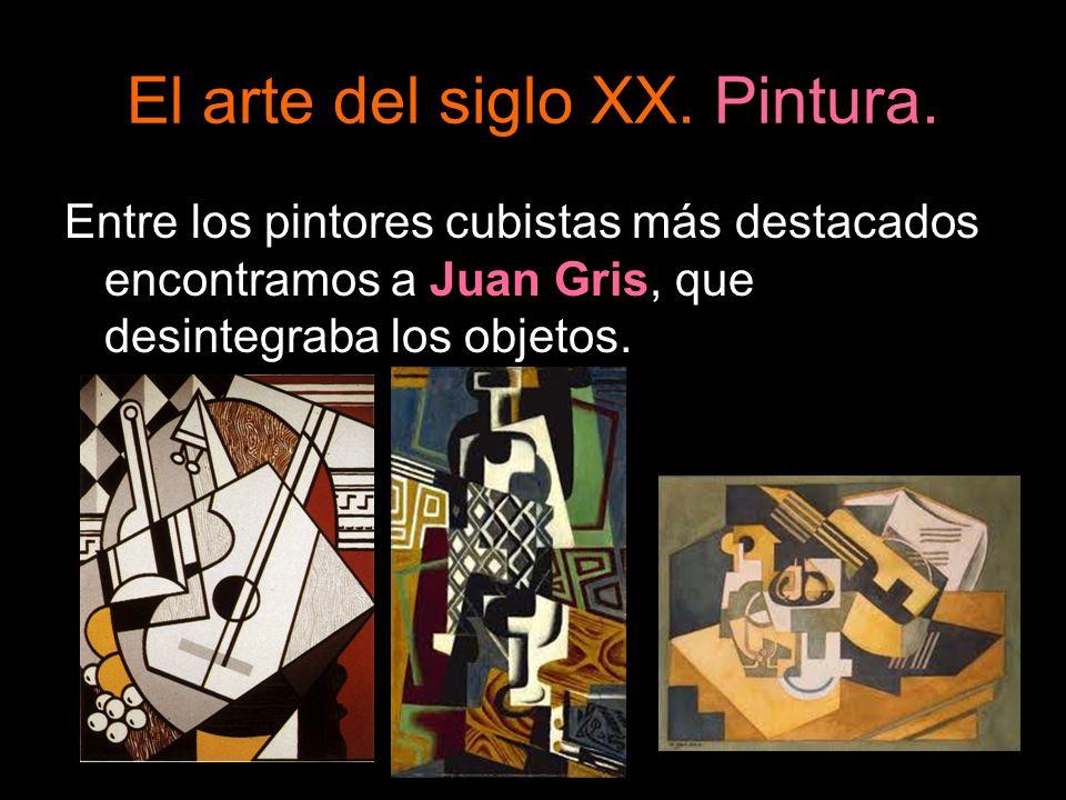 Entre los pintores cubistas más destacados encontramos a Juan Gris, que desintegraba los objetos.