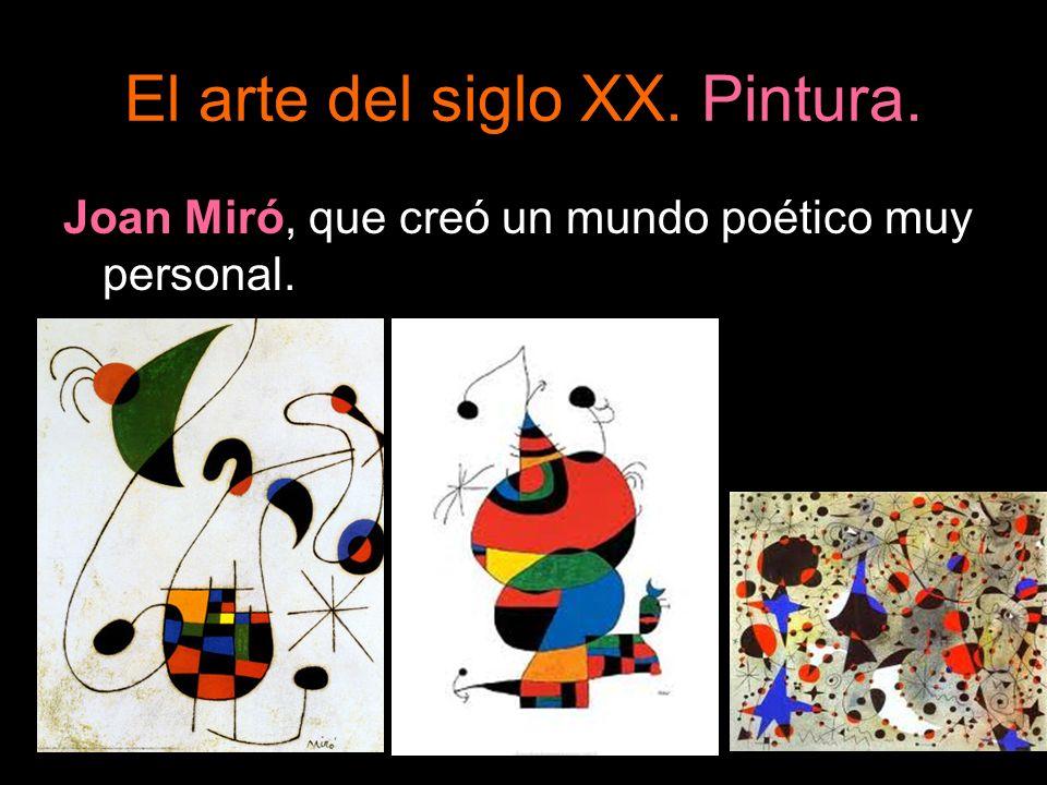 Joan Miró, que creó un mundo poético muy personal.