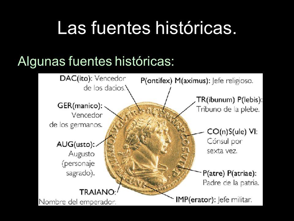 Algunas fuentes históricas: