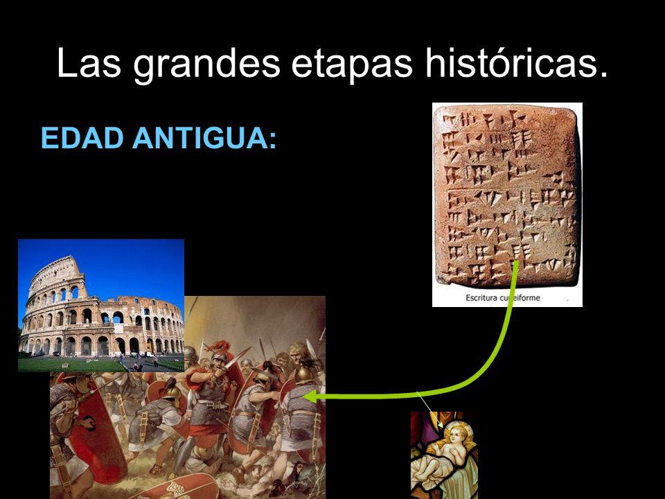 Las grandes etapas históricas. EDAD ANTIGUA: