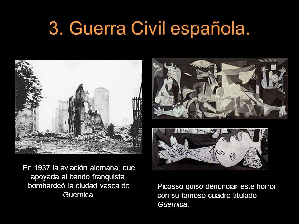 En 1937 la aviación alemana, que apoyada al bando franquista, bombardeó la ciudad vasca de Guernica. Picasso quiso denunciar este horror con su famoso