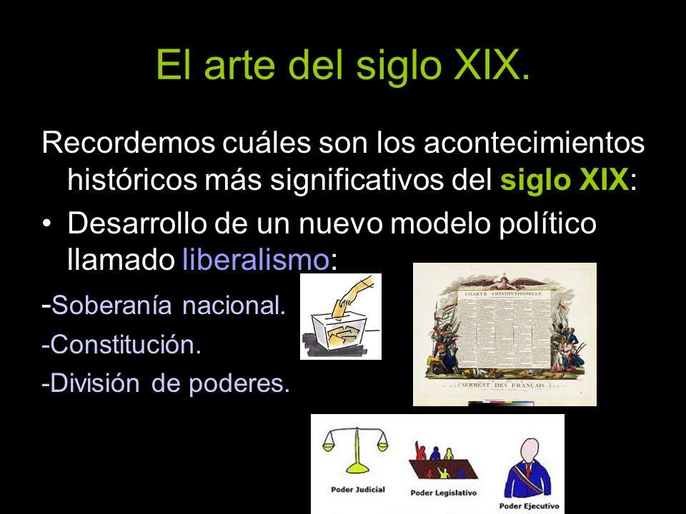 Recordemos cuáles son los acontecimientos históricos más significativos del siglo XIX: Desarrollo de un nuevo modelo político llamado liberalismo: - S