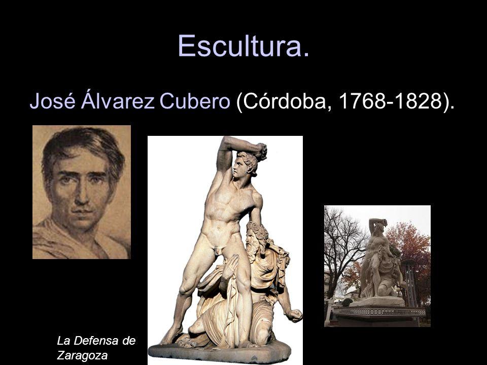 Escultura. José Álvarez Cubero (Córdoba, 1768-1828). La Defensa de Zaragoza