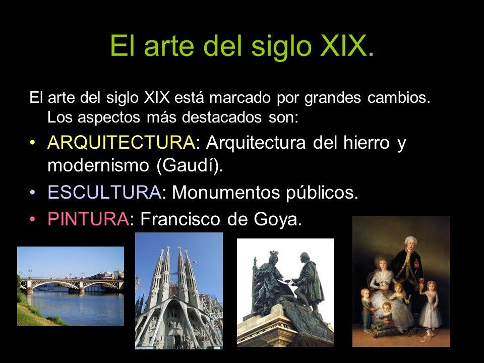 Escultura.Entre los escultores españoles del siglo XIX destacan: José Álvarez Cubero.
