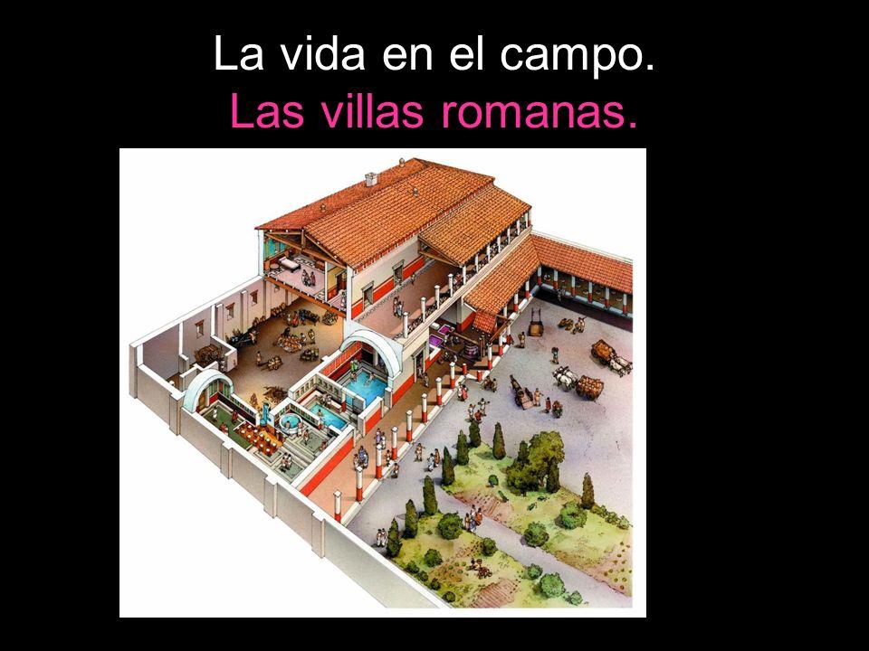 La vida en el campo. Las villas romanas.