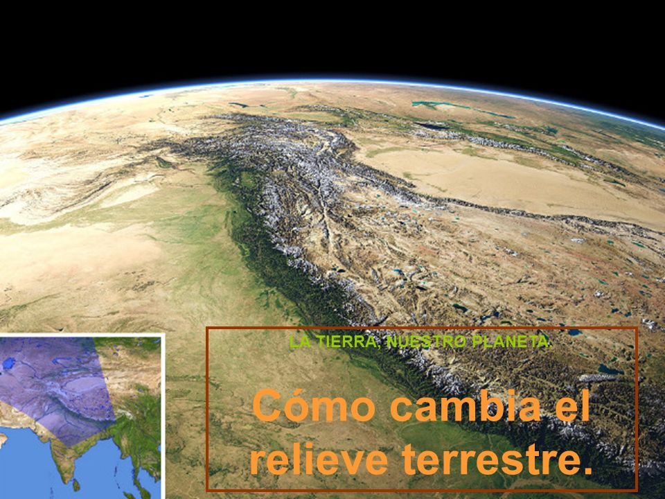 La geosfera.Recuerda que La Tierra está formada por tres elementos: GEOSFERA.