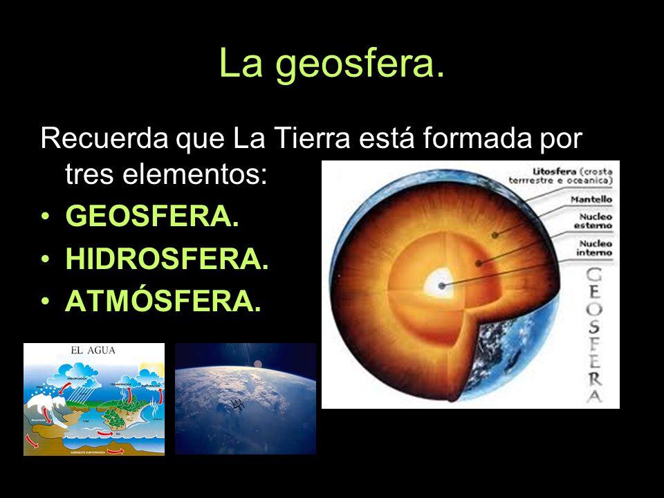 Agentes geológicos internos.Son aquellos que proceden del interior de la geosfera.