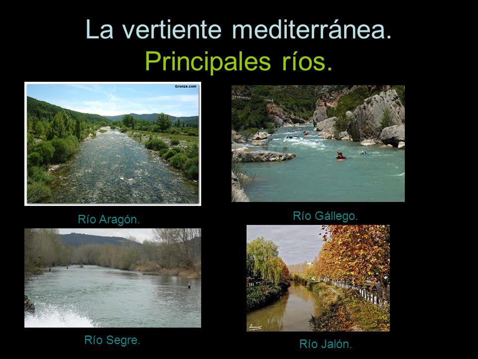 Río Aragón. Río Gállego. Río Segre. Río Jalón.