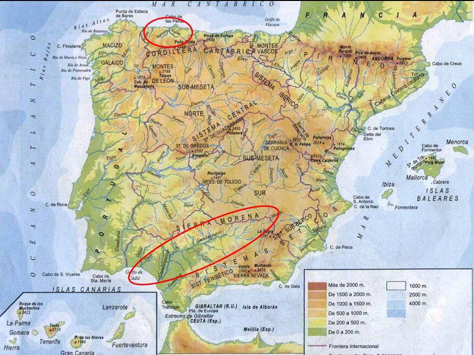 Los ríos peninsulares se dividen en tres vertientes fluviales, que son un conjunto de tierras cuyos ríos desembocan en el mismo mar u océano: Vertiente atlántica.