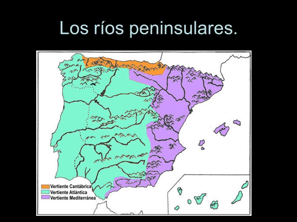 Los ríos peninsulares.
