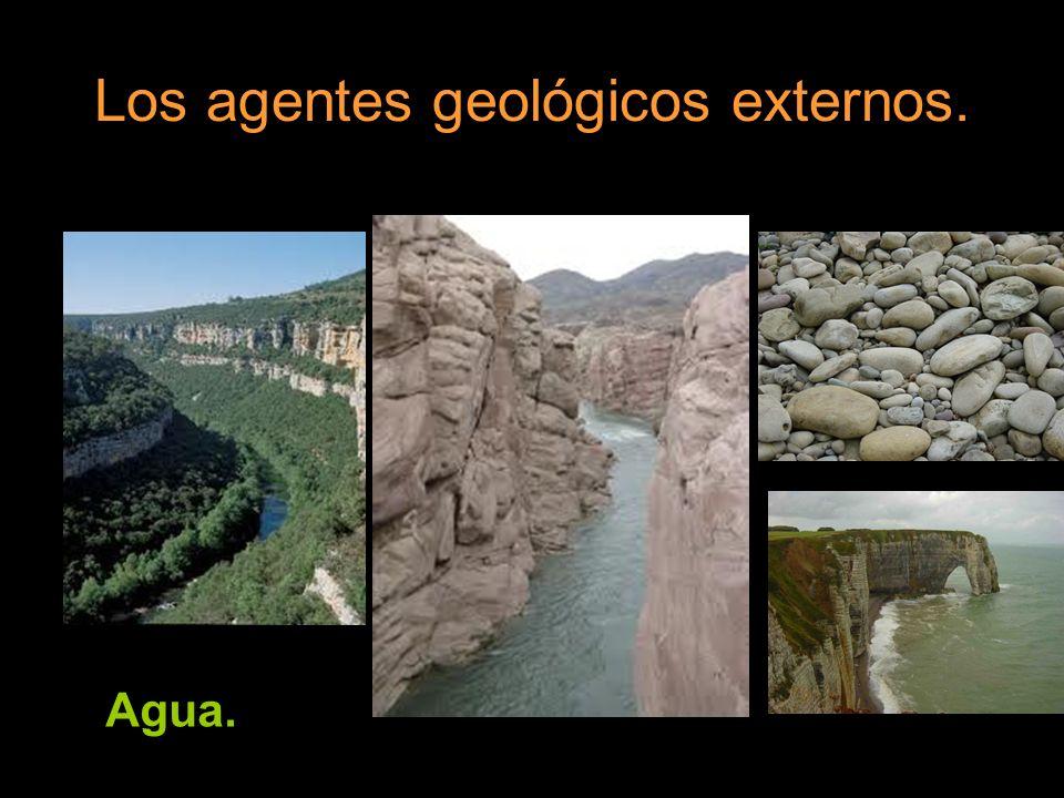 Los agentes geológicos externos. Agua. Viento.