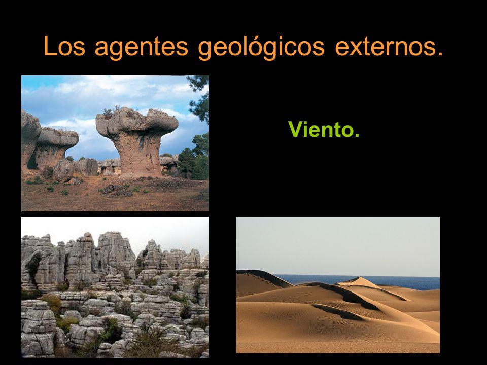 Los agentes geológicos externos. Hielo.