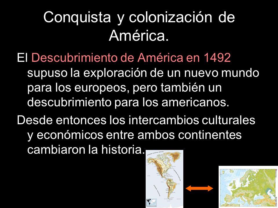 Conquista y colonización de América. El Descubrimiento de América en 1492 supuso la exploración de un nuevo mundo para los europeos, pero también un d