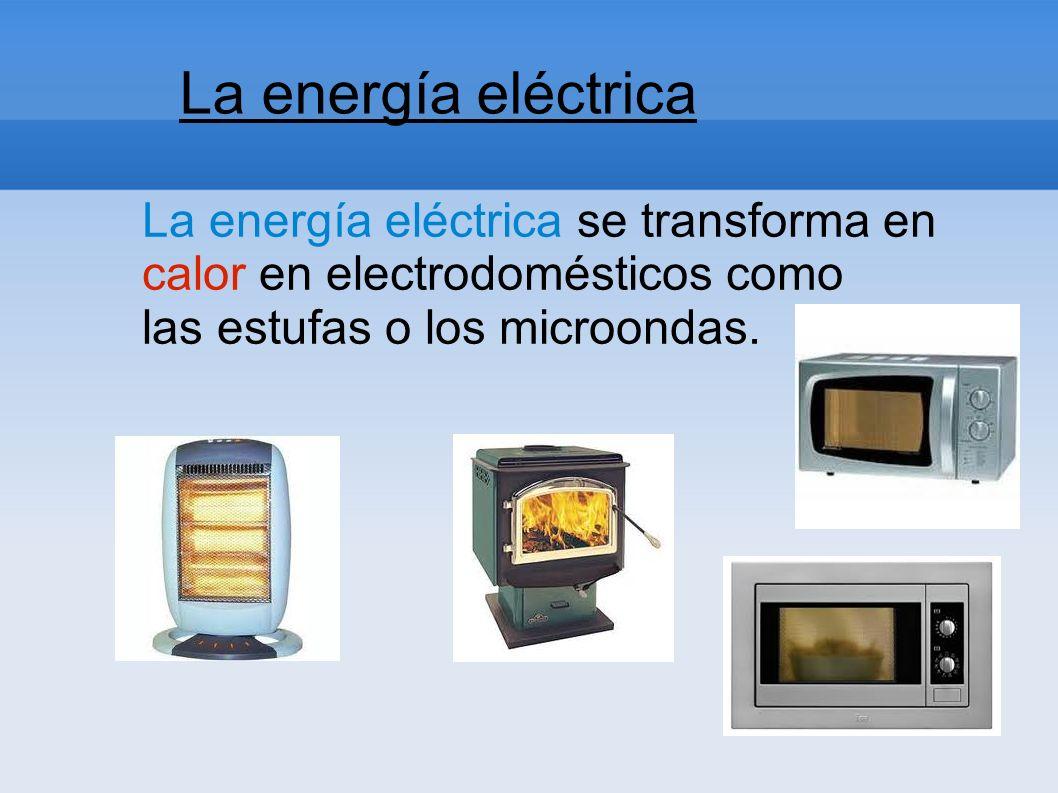 La energía eléctrica La energía eléctrica es causada por el movimiento de las cargas eléctricas en el interior de los materiales conductores.