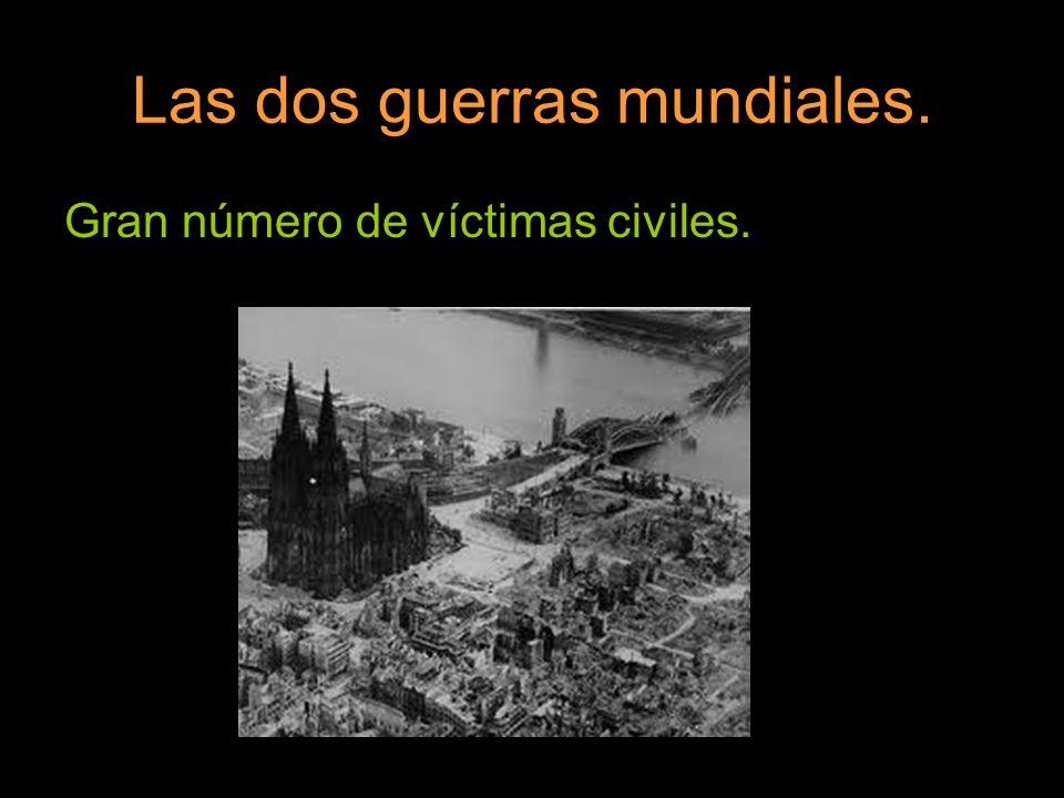 Gran número de víctimas civiles.