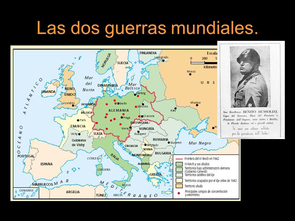 Las dos guerras mundiales.