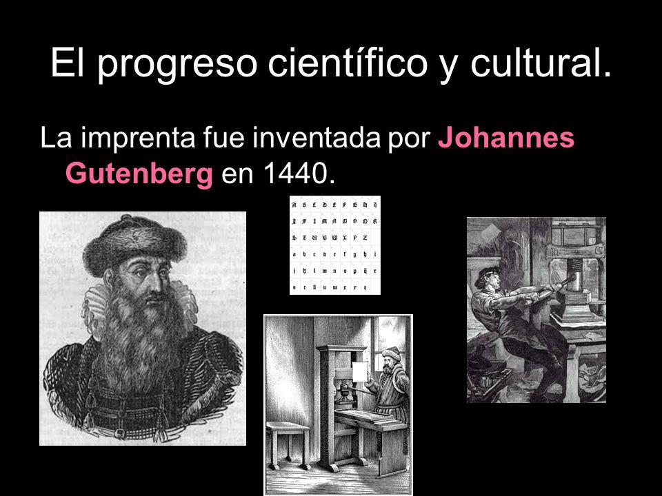 La imprenta fue inventada por Johannes Gutenberg en 1440.