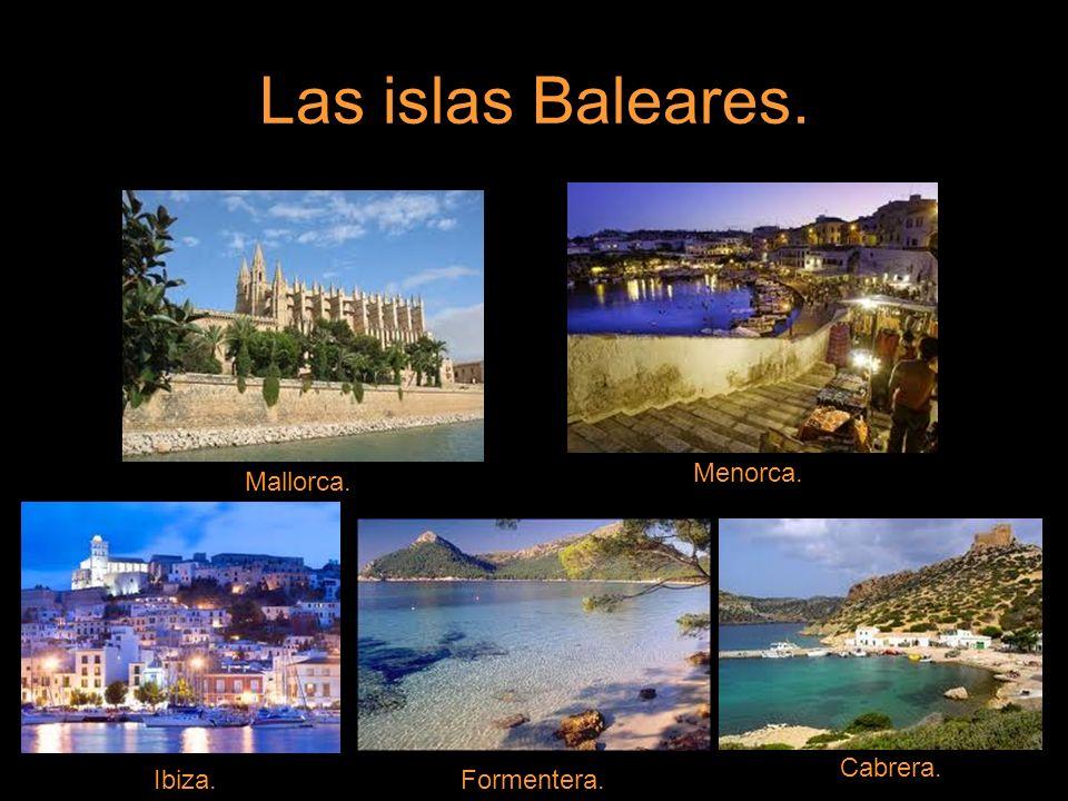 Las islas Baleares.RELIEVE.