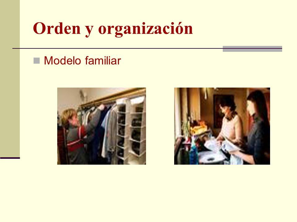 Orden y organización Modelo familiar