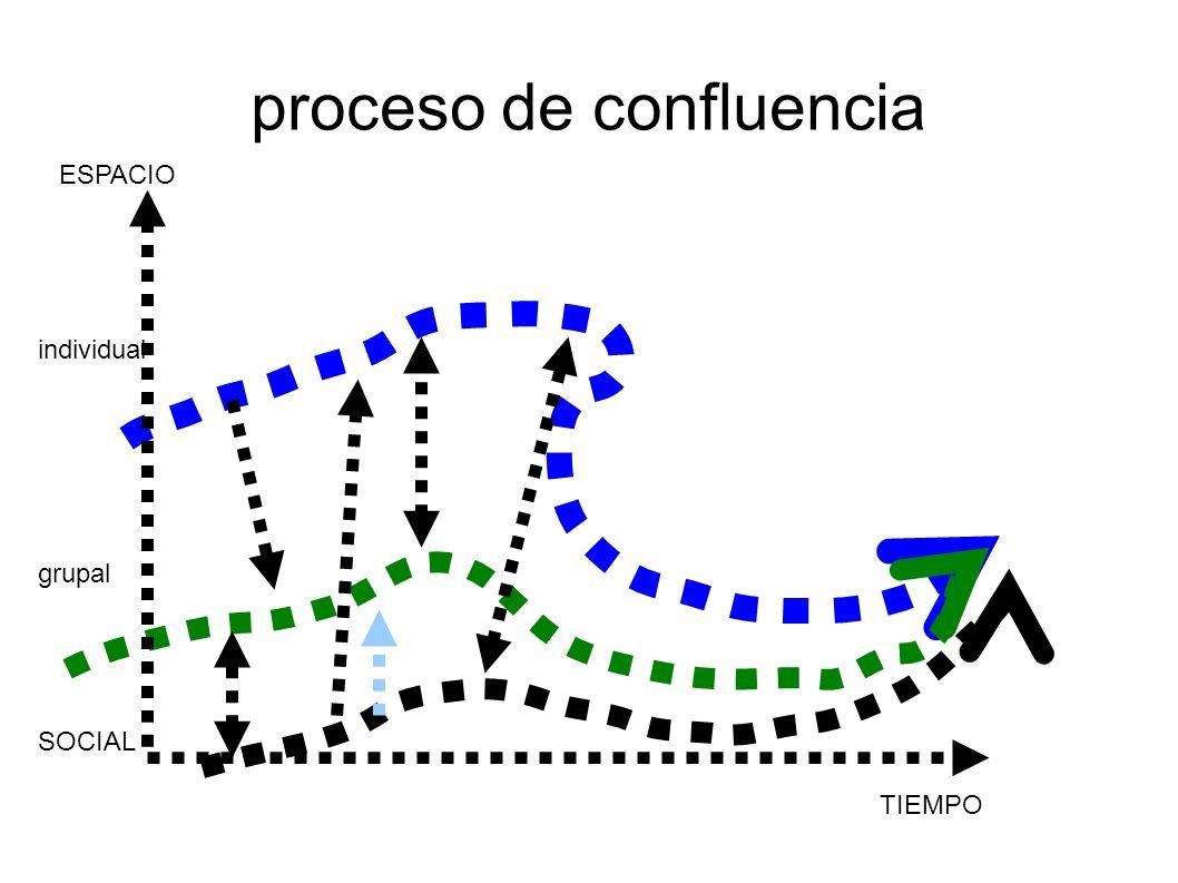 proceso de confluencia individual grupal SOCIAL TIEMPO ESPACIO