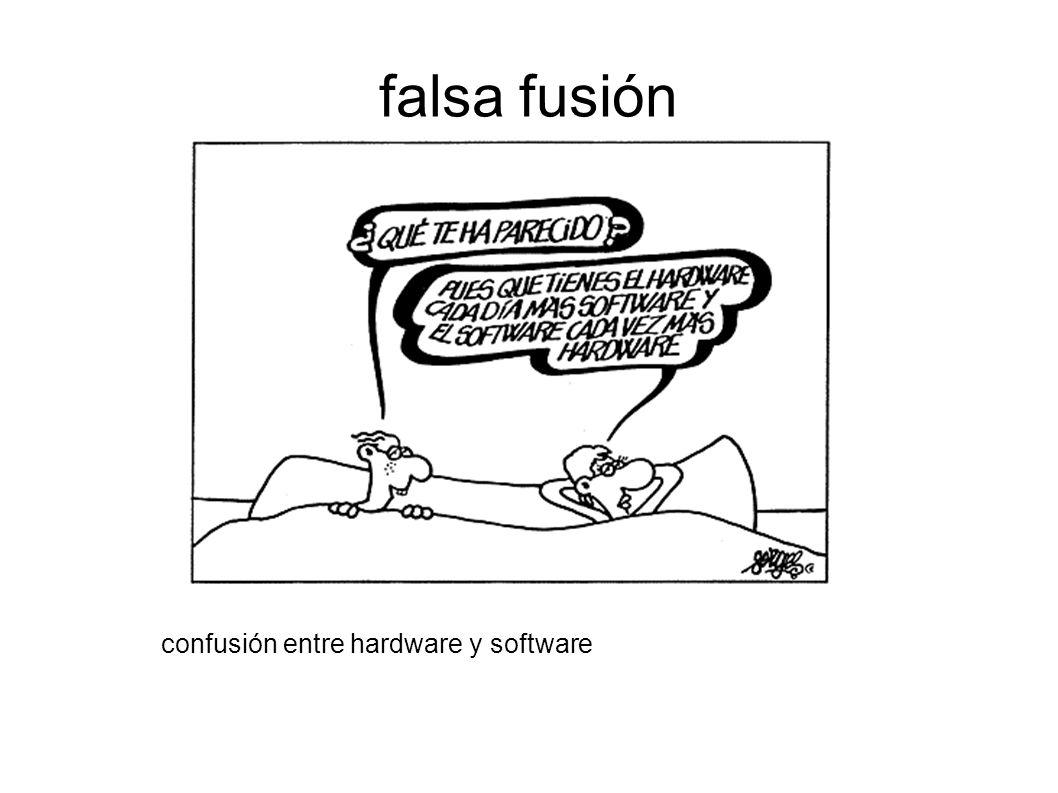 falsa fusión confusión entre hardware y software