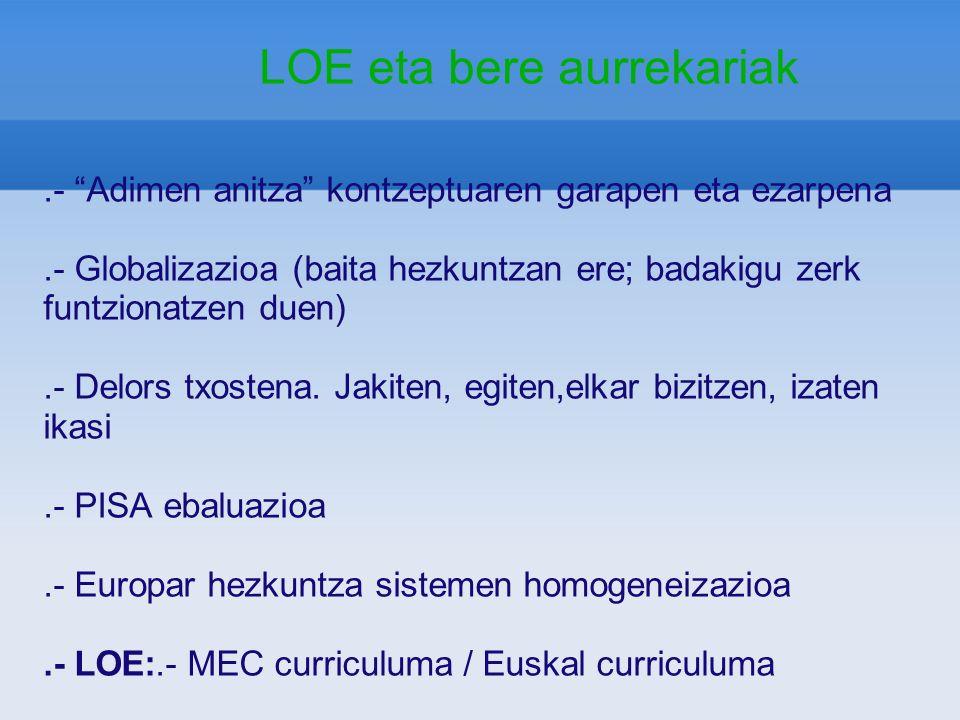 LOE: ESO ORGANIZACIÓN DE LOS CURSOS.MATERIAS - Además, 3 materias de éstas:.