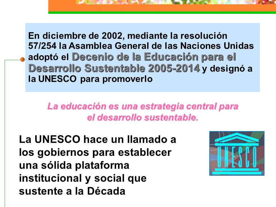 Líneas de acción de la educación ambiental Promover la corresponsabilidad y la participación social Formar individuos capaces de establecer relaciones