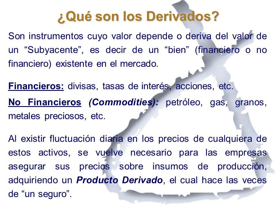 Conclusiones Es necesario avanzar en la cultura de los Derivados, que los empresarios e inversionistas los conozcan.